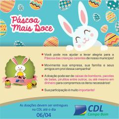 CDL lança 5ª Edição da campanha Páscoa Mais Doce