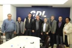 CDL recebe visita do Deputado Estadual João Fisher e representantes municipais