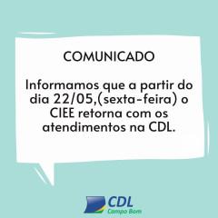 Comunicado - Atendimento CIEE