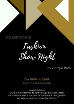 Convite: Apresentação do Fashion Show Night