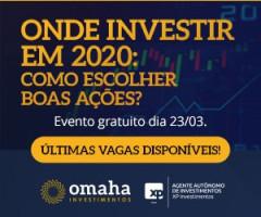 Convite Onde Investir em 2020: como escolher boas empresas e o case Magazine Luíza na Bolsa