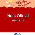 COMUNICADO OFICIAL CAMPANHA #NMC2021